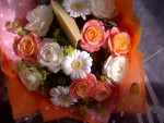 rose and germini thank you bouquet