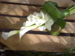 brides calla lily bouquet