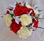 artificial bridesmaids bouquet