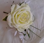 artificial rose buttonhole